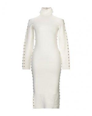 Платье до колена ALICE + OLIVIA. Цвет: белый