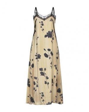 Длинное платье PLEASE. Цвет: охра