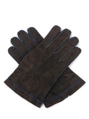 Замшевые перчатки ETRO. Цвет: зеленый
