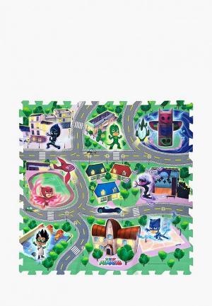 Набор игровой Росмэн Коврик-пазл Город Героев. Цвет: разноцветный