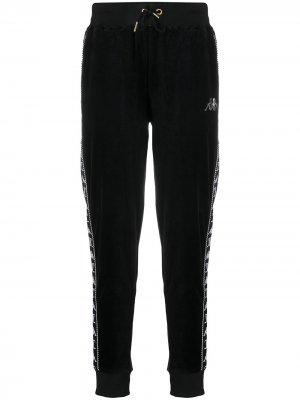 Фактурные спортивные брюки с логотипом Kappa. Цвет: черный
