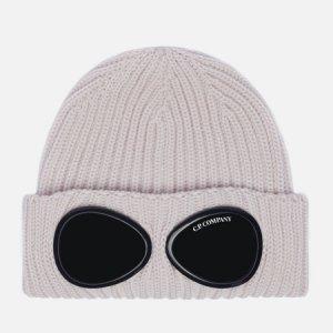 Шапка Extra Fine Merino Wool Goggle C.P. Company. Цвет: серый