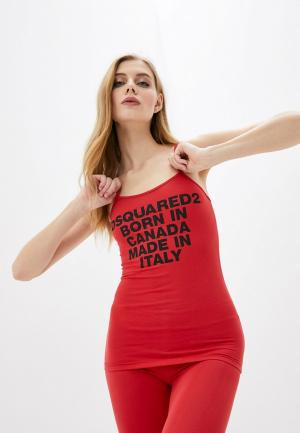 Майка Dsquared2 Underwear. Цвет: красный