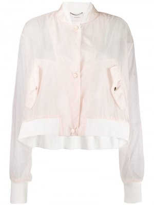 Полупрозрачная куртка-бомбер Dorothee Schumacher. Цвет: розовый