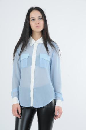 Рубашка Lamania. Цвет: голубой
