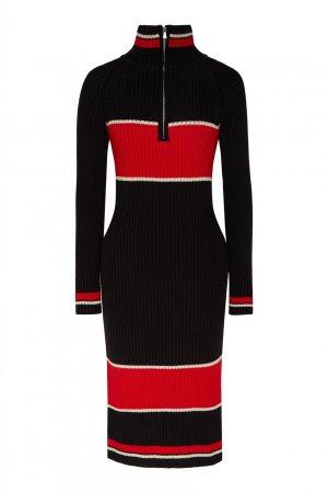 Бело-красно-черное спортивное платье LAROOM. Цвет: multicolor