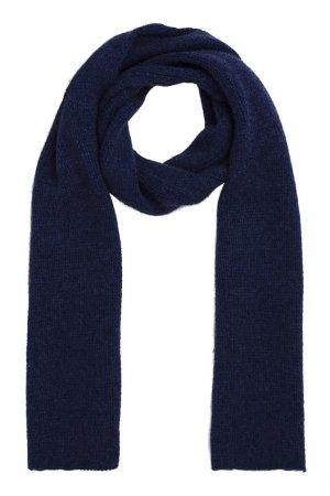 Синий вязаный шарф Bonpoint. Цвет: синий