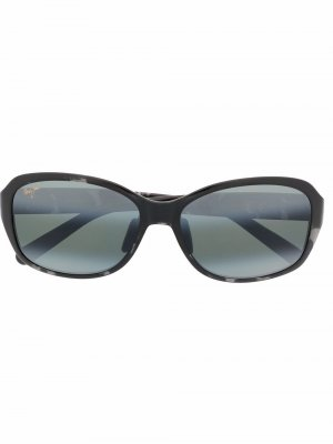 Солнцезащитные очки с мраморным узором Maui Jim. Цвет: черный