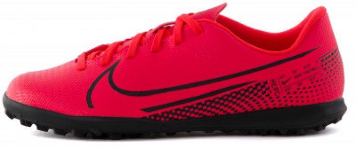 Бутсы для мальчиков Vapor 13 Club TF, размер 32 Nike. Цвет: красный