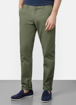 Однотонные брюки-чиносы из твила OSTIN