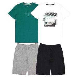 Комплект из 2 пижам с LaRedoute. Цвет: зеленый