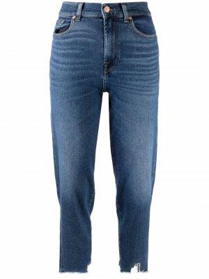 Зауженные джинсы Malia средней посадки 7 For All Mankind. Цвет: синий