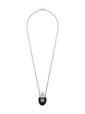 Колье 1970-го года с кулоном в виде флакона Givenchy Pre-Owned. Цвет: черный