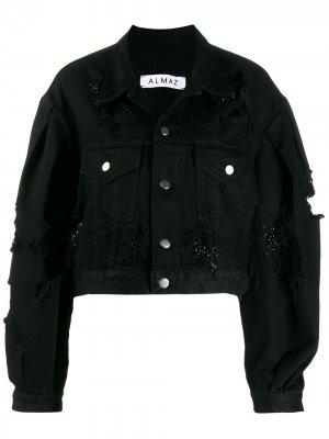 Укороченная джинсовая куртка Almaz. Цвет: черный