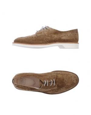Обувь на шнурках ESSEUTESSE. Цвет: хаки