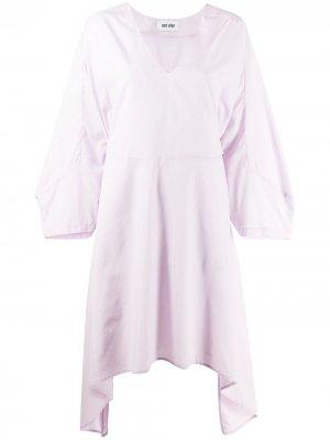 Расклешенное платье миди асимметричного кроя Each X Other. Цвет: фиолетовый