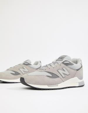 Серые кроссовки 840 ML840AF New Balance. Цвет: серый