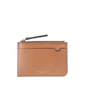 Бумажник PAOLO PECORA. Цвет: желто-коричневый