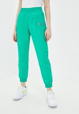 Брюки спортивные Champion ROCHESTER1919 Elastic Cuff Pants. Цвет: зеленый