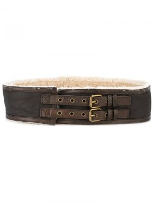 Ремень с меховой подкладкой Jean Paul Gaultier Pre-Owned. Цвет: коричневый