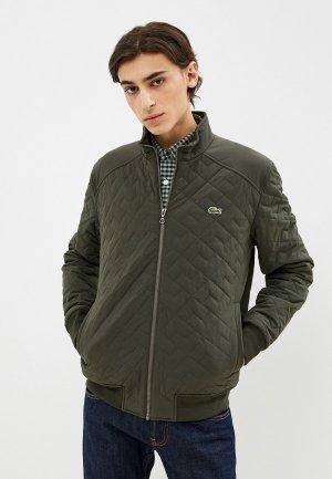 Куртка утепленная Lacoste. Цвет: хаки
