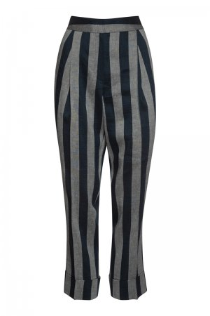 Укороченные брюки со стрелками VASSA&Co. Цвет: синий
