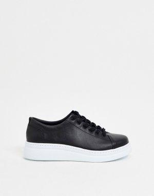 Черные кожаные кроссовки на платформе -Черный Camper