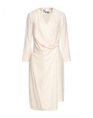 Платье до колена 8PM. Цвет: слоновая кость