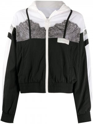 Куртка с кружевом и капюшоном Pinko. Цвет: белый