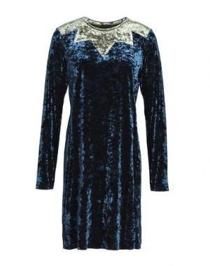 Короткое платье ANNA SUI. Цвет: грифельно-синий