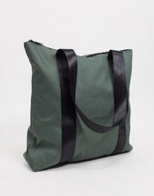 Большая сумка‑тоут из парусины -Зеленый SVNX