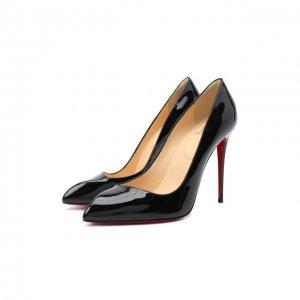 Кожаные туфли Corneille 100 Christian Louboutin. Цвет: чёрный