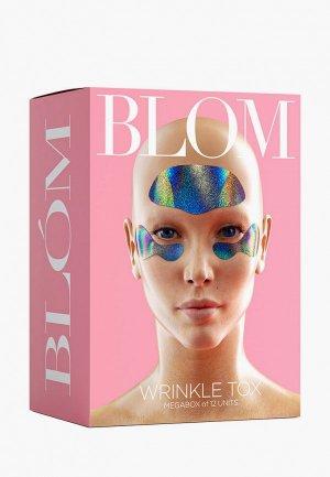 Патчи для лица Blom WRINKLE TOX. 6 патчей лба + пар глаз. Цвет: разноцветный