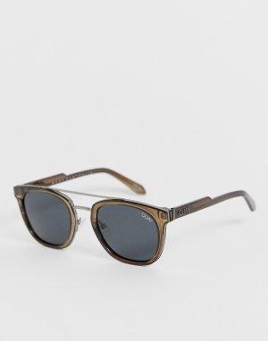 Квадратные солнцезащитные очки в серой оправе Coolin-Серый Quay Australia