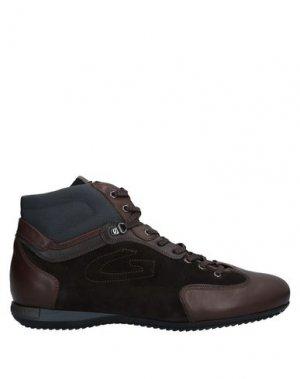 Кеды и кроссовки ALBERTO GUARDIANI. Цвет: коричневый