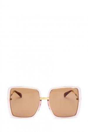 Солнцезащитные очки оверсайз в квадратной оправе Gucci. Цвет: коричневый