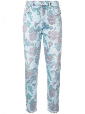 Зауженные джинсы с цветочным принтом Citizens Of Humanity