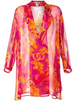 Кафтан с принтом Céline Pre-Owned. Цвет: розовый