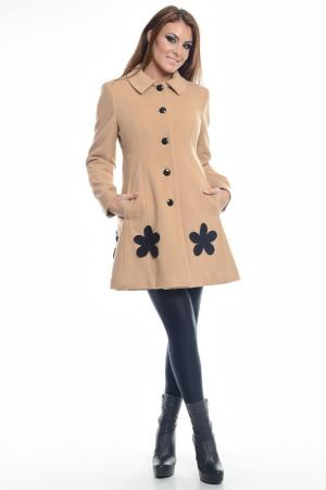 Пальто Collezione di Ines. Цвет: бежевый