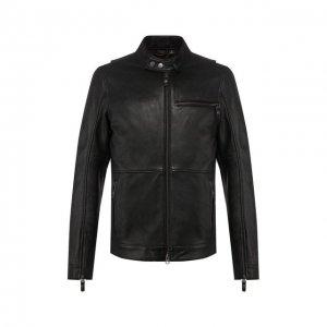Кожаная куртка Garage Harley-Davidson. Цвет: чёрный