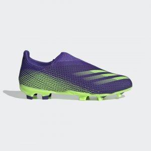 Футбольные бутсы X Ghosted.3 Laceless FG Performance adidas. Цвет: зеленый
