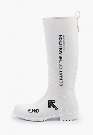 Резиновые сапоги F_WD. Цвет: белый