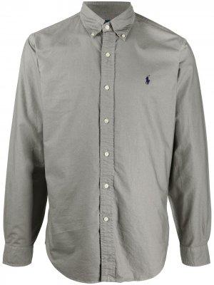Рубашка с длинными рукавами Polo Ralph Lauren. Цвет: серый