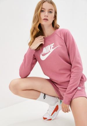 Свитшот Nike W NSW ESSNTL CREW FLC HBR. Цвет: розовый