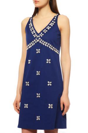Платье Moschino. Цвет: синий