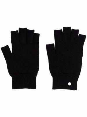 Кашемировые перчатки-митенки Rick Owens. Цвет: черный