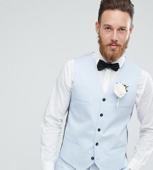 Голубой приталенный жилет Wedding Noak. Цвет: синий
