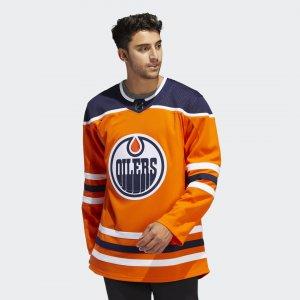 Оригинальный хоккейный свитер Oilers Home Performance adidas. Цвет: оранжевый