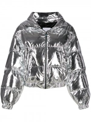 Куртка-бомбер Flirting Chiara Ferragni. Цвет: серебристый