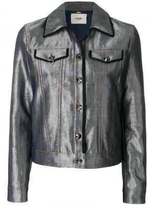 Джинсовая куртка Karlito Fendi. Цвет: серый